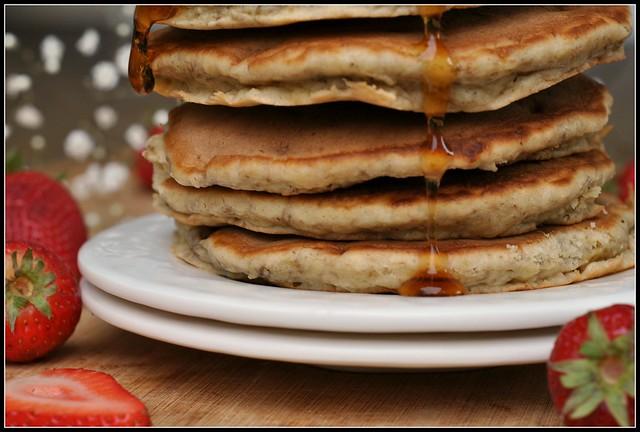 Banana Wheat Germ Pancakes 3