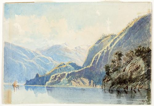 003- Lago Wakatipu- Nueva Zelanda- Chevalier, Nicholas, 1866-Museo Te PapaTongareva