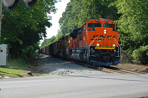 NS Loaded Coal with A BNSF Leading Eastbound