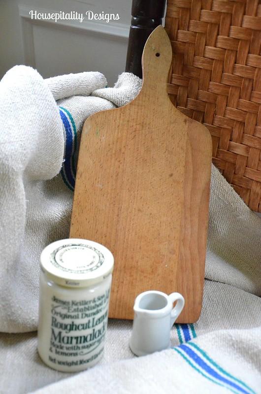 Vintage Bread Board-Marmalade Jar-Creamer