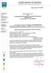 Referencje Urzędu Miejskiego w Bieruniu 2008r. (modernizacja budynku Rynek 14)