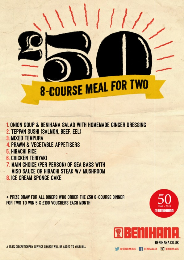 Win A Free Dinner For Two And Celebrate Benihanas 50th