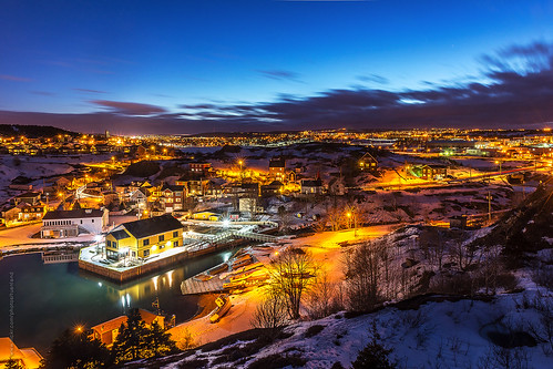 blue hour at Quidi Vidi harbour