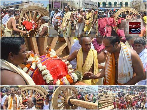 Chakaa Dera Niti :: Chariot Construction #PuriRathYatra 2014 #rathyatra