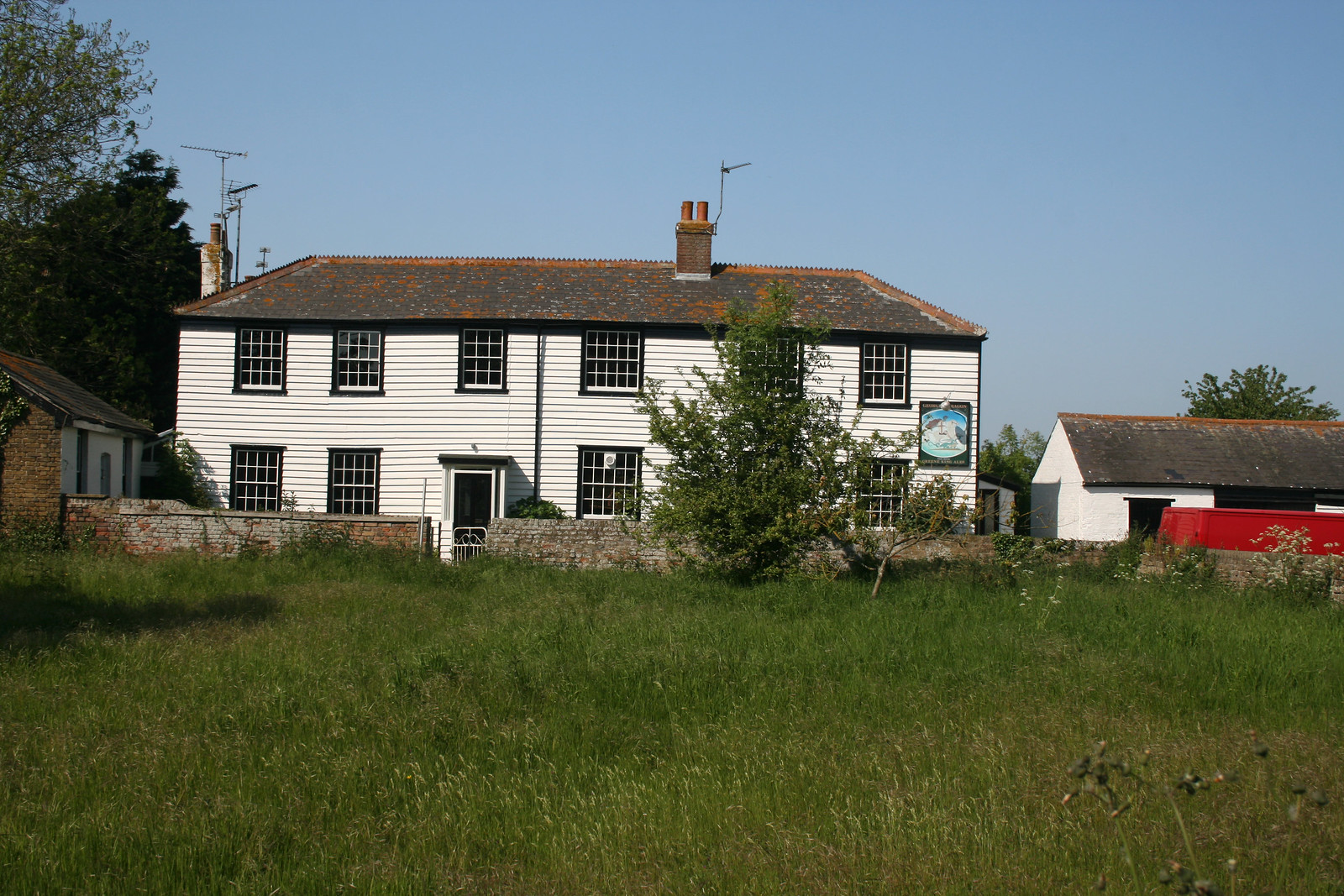 The former George and Dragon pub, Foulness Island The pub closed in 2007.