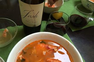2012 Cabernet Sauvignon Josh Cellars - Pairing Shrimp soup