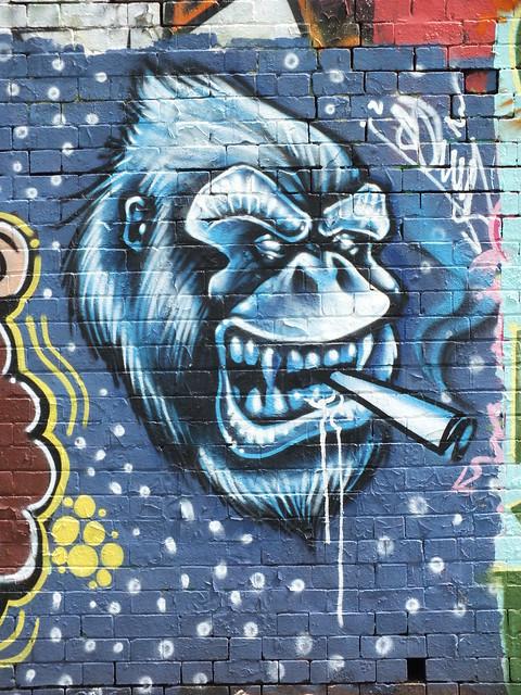 Street art and graffiti at Sevenoaks Park, Cardiff