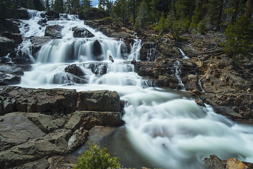 waterfall laketahoe alpine heavy cascade southlaketahoe fallenleaflake glenalpinefalls
