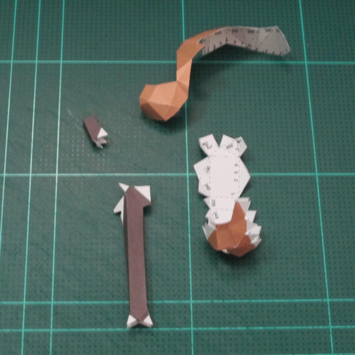 วิธีทำโมเดลกระดาษคุกกี้รสคุกกี้แอนด์ครีม  (Cookie Run Cream Cookie Papercraft Model) 014