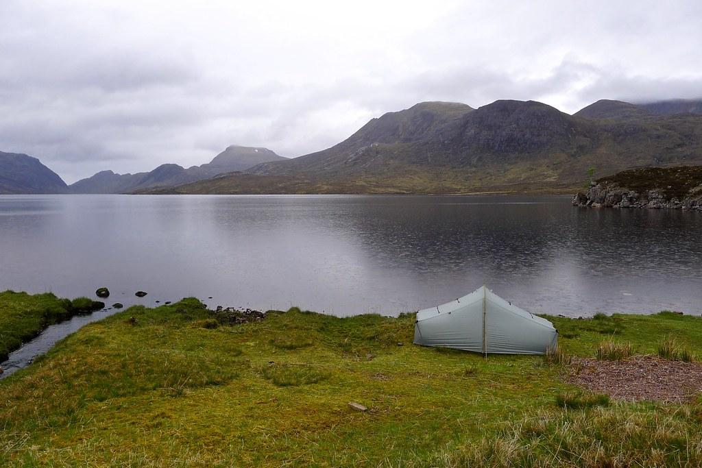 Wild camping by Lochan Fada