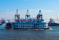 Passengers ship MS Louisiana Star, Elbe, Hamburg, Germany - Passagierschiff MS Louisiana Star