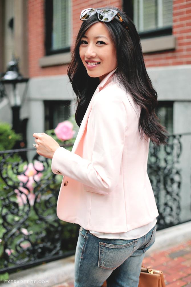 pink blazer boyfriend jeans1