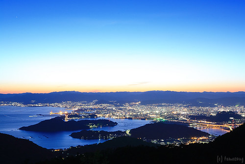 longexposure sunset japan night canon nightscape powershot hiroshima nightview aki 夜景 夕日 海 瀬戸内海 seto 広島 島 mtege s120 安芸 絵下山 powershots120 egesan 絵下山公園