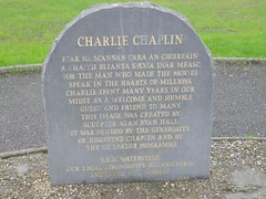 Photo of Charlie Chaplin stone plaque