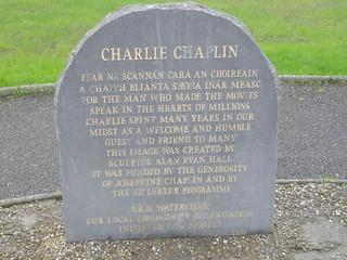Charlie Chaplin plaque, Waterville, Co Kerry