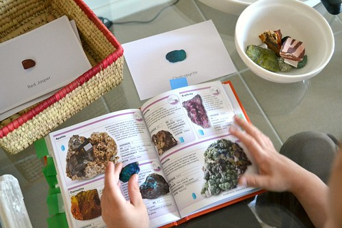 Identifying and Researching Minerals (Photo from How We Montessori)