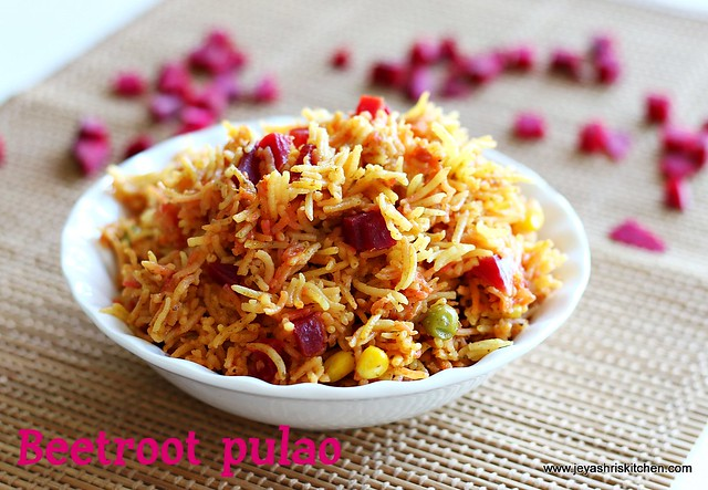 Beetroot- pulao