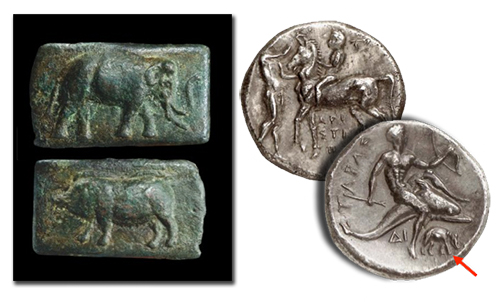 Elephant Coins depicting the Pyrrhic War