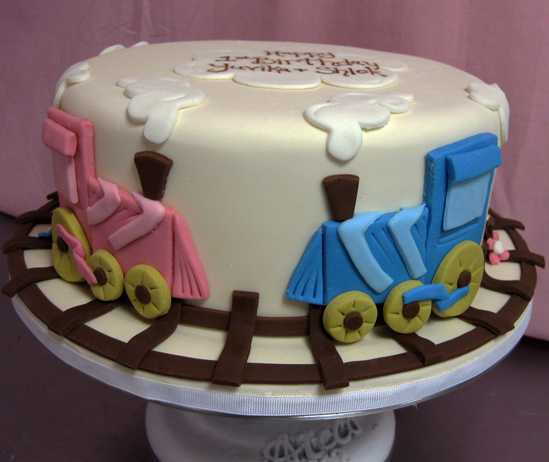 Train Baby Shower Cake Part - 23: Single Tier Train Cake