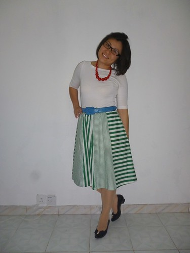 vintage green skirt 2