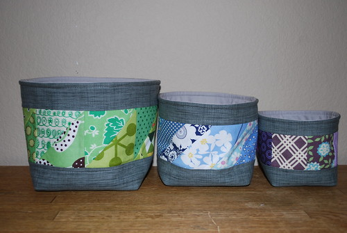 Rainbow Fabric Bowls