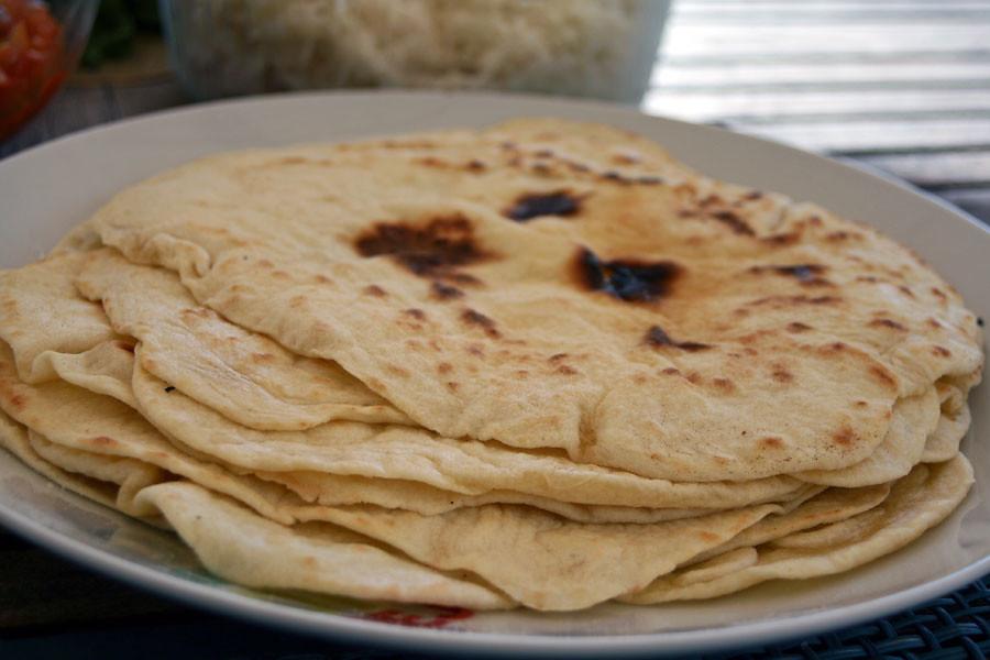 Tortillas maison aux beignets de maquereaux