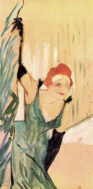 Yvette Guilbert salut a public by Henri de Toulouse-Lautrec, 1894