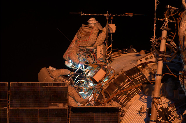 Oleg and Sasha spacewalk