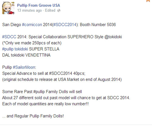Groove announcement for SDCC