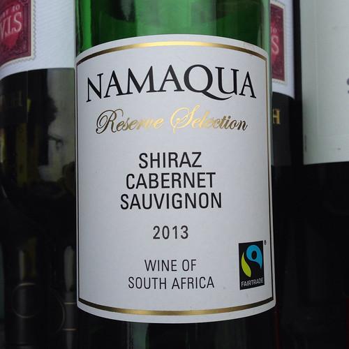 Namaqua Reserve Selection, Shiraz Cabernet Sauvignon, 2013