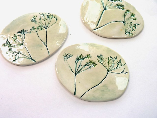 cow parsley coasters