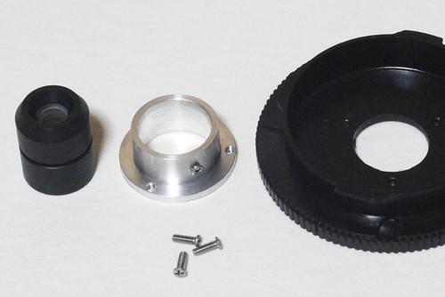 Flange production of the scanner lens