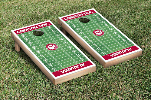 Alabama Crimson Tide Cornhole Game Set Football Field