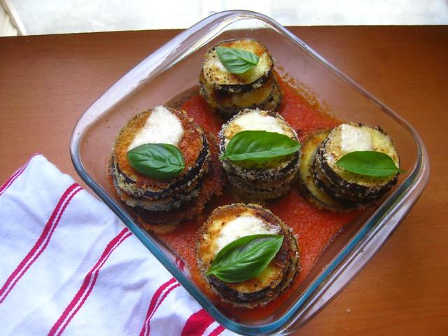 eggplant parmesan stacks 02