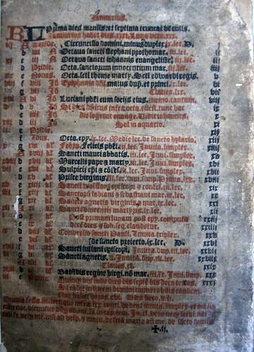 sarum breviary 1556  leaf1r