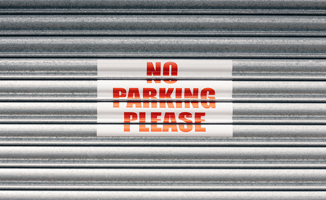 no parking please