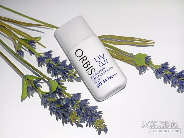 orbis uv cut sunscreen on face beauty light review