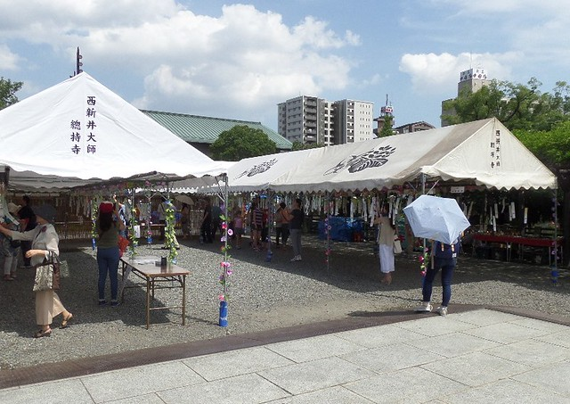 Fuurin Matsuri - Wind Chime Festival - at Nishiarai Daishi temple