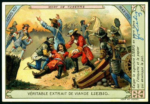 Liebig Tradecard S1007 - The Death of Marshal Turenne