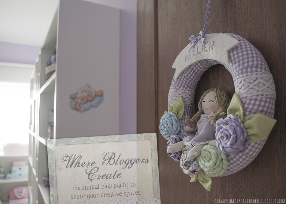 Craft Room Door Wreath