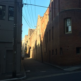 Light and shadow play on lanes in Surry Hills 4