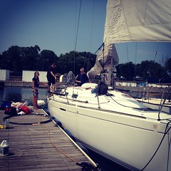 Imp\'s getting transformed into racing mode for the #cycrtm this weekend! #belmontharbor #lakemichigan #chicago