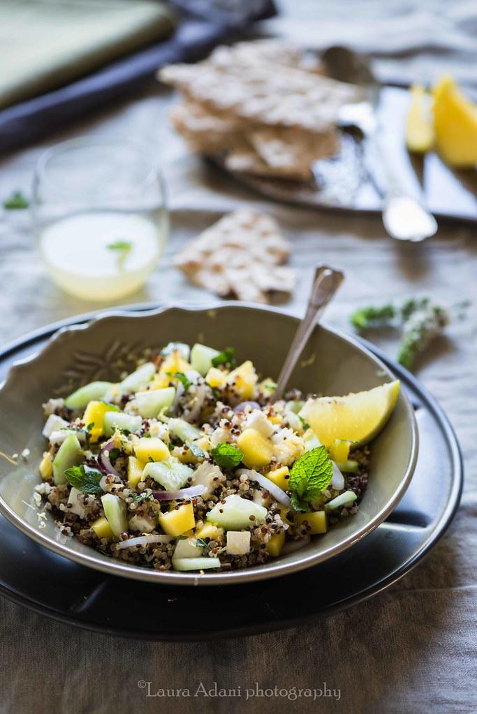 insalata di quinoa con mango feta e menta-5940