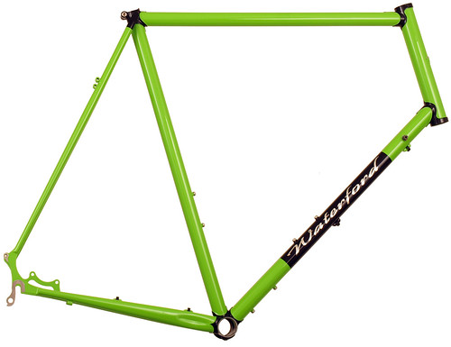 <p>Waterford 22-Series Disc Touring in Big Bad Green with Black Masked Lugs.  This 66cm frame is design to support fully loaded touring with an unmistakable style.</p>