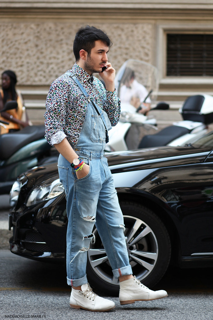 Tommaso Rosati at Milan Fashion Menswear day 2