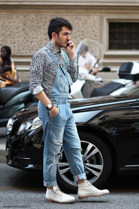 Tommaso Rosati at Milan Fashion Menswear day 2