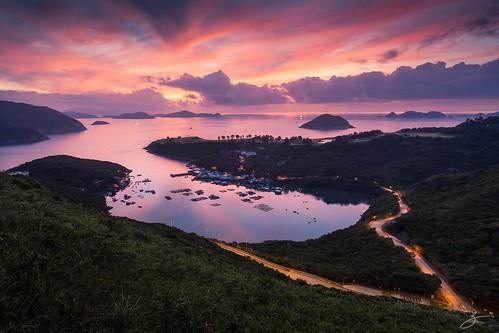 red reflection clouds sunrise canon landscape 香港 afterglow 布袋澳 田下山 5dmarkii