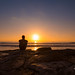 Selfie Sunset at La Jolla, CA by Mike Ver Sprill - Milky Way Mike