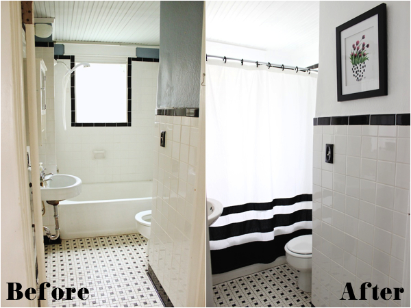 Fabric Paper Glue | Guest Bath Before & After