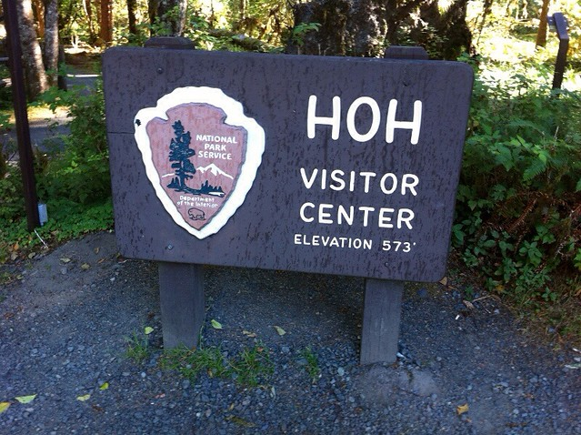 Hoh Visitor Center Sign